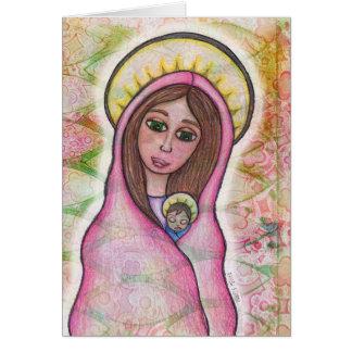Tarjeta de Navidad de Jesús de Maria y del bebé
