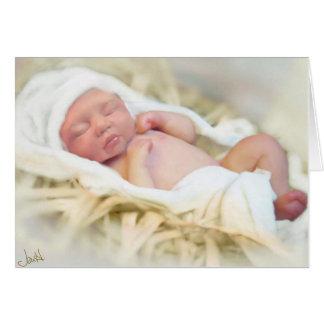Tarjeta de Navidad de Jesús del bebé