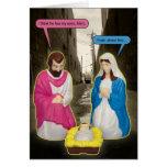 Tarjeta de Navidad de Jesús del bebé del