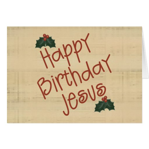 Tarjeta de Navidad de Jesús del feliz cumpleaños