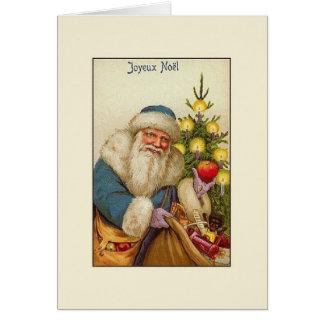 Tarjeta de Navidad de Joyeux Noël del francés del