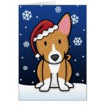 Tarjeta de Navidad de Kawaii Basenji