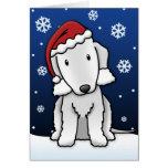 Tarjeta de Navidad de Kawaii Bedlington Terrier