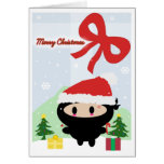Tarjeta de Navidad de Kawaii Ninja