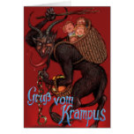 Tarjeta de Navidad de Krampus