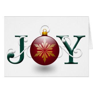 """Tarjeta de Navidad de la """"alegría"""""""