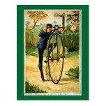 Tarjeta de Navidad de la bicicleta del vintage Tarjeta Postal