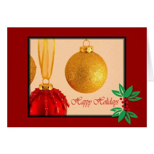 Tarjeta de Navidad de la bola del brillo