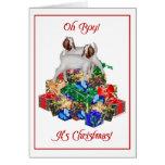 Tarjeta de Navidad de la cabra del Boer