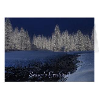Tarjeta de Navidad de la cala Nevado