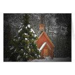 Tarjeta de Navidad de la capilla de la montaña