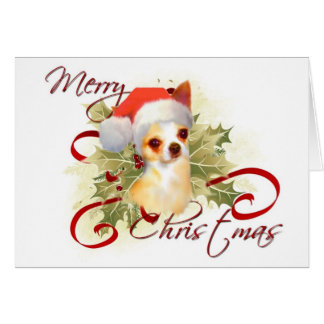 Tarjeta de Navidad de la chihuahua
