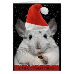 Tarjeta de Navidad de la chinchilla