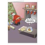 Tarjeta de Navidad de la correa de Santa