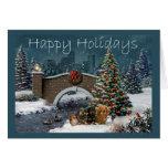 Tarjeta de Navidad de la cuadrilla del Dachshund E