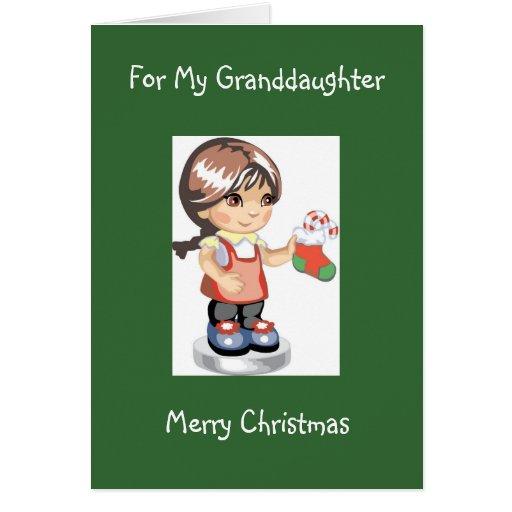 Tarjeta de Navidad de la diva para su nieta