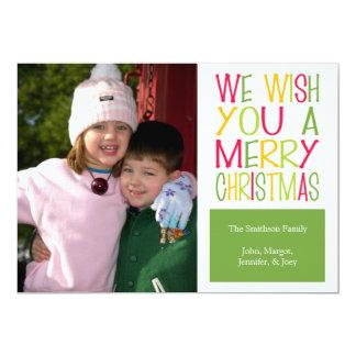 Tarjeta de Navidad de la diversión del navidad Comunicados Personales