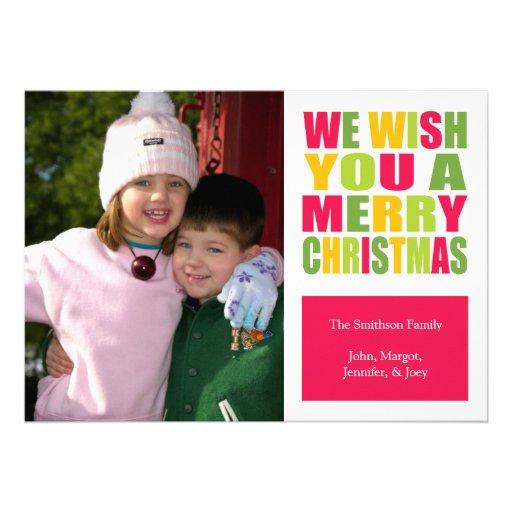 Tarjeta de Navidad de la diversión del navidad (ro