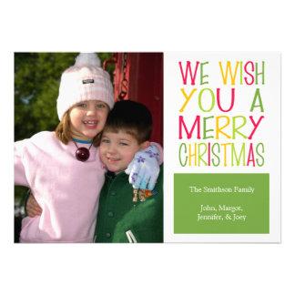 Tarjeta de Navidad de la diversión del navidad ve