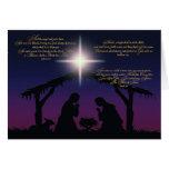 Tarjeta de Navidad de la escena de la natividad