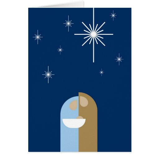 Tarjeta de Navidad de la escena de la natividad de