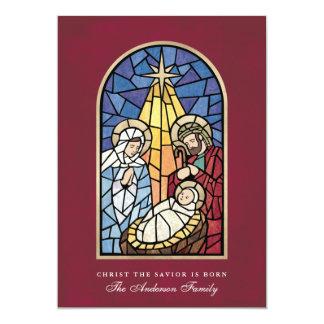 """Tarjeta de Navidad de la escena de la natividad Invitación 5"""" X 7"""""""