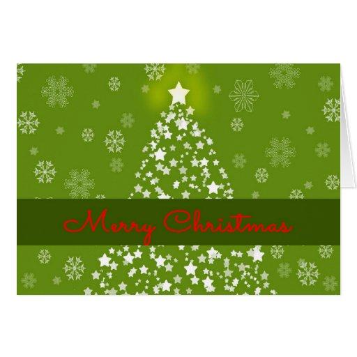 Tarjeta de Navidad de la estrella