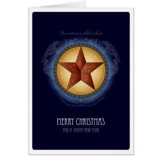 Tarjeta de Navidad de la estrella de Tejas