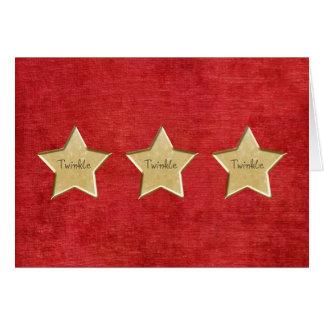 Tarjeta de Navidad de la estrella del oro del cent