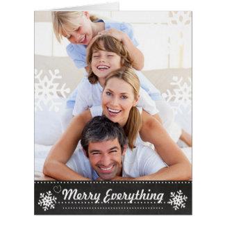 Tarjeta de Navidad de la extra grande de la foto d