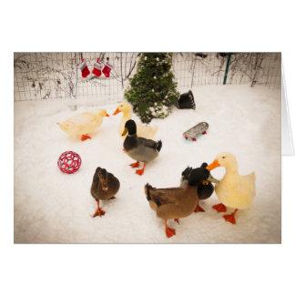 Tarjeta de Navidad de la fiesta de Navidad del