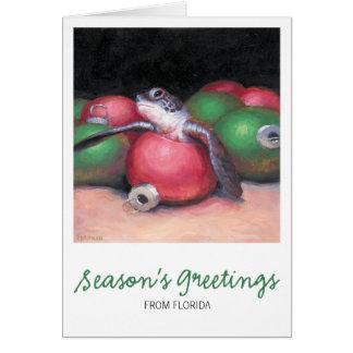 Tarjeta de Navidad de la Florida de la tortuga de