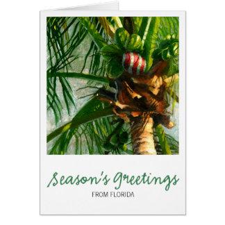 Tarjeta de Navidad de la Florida del coco