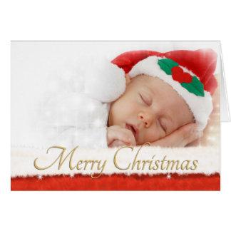 Tarjeta de Navidad de la foto con la piel Fra del