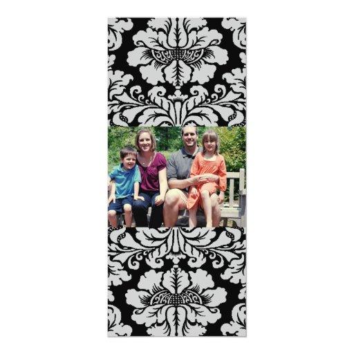 """tarjeta de Navidad de la foto de familia 4x9 Invitación 4"""" X 9.25"""""""