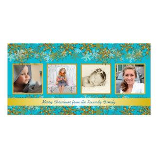 Tarjeta de Navidad de la foto de familia de la Tarjetas Fotográficas