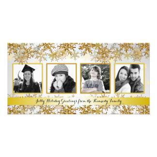 Tarjeta de Navidad de la foto de familia de la Tarjetas Personales Con Fotos