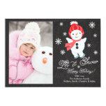 Tarjeta de Navidad de la foto de familia del Anuncios Personalizados