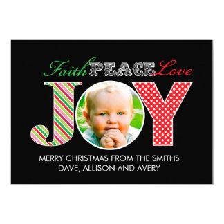 """Tarjeta de Navidad de la foto de la fe, de la paz, Invitación 5"""" X 7"""""""