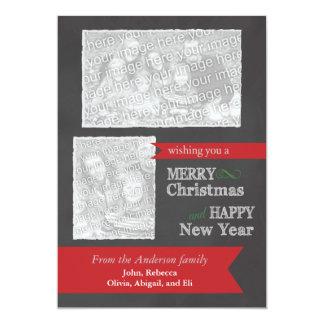 Tarjeta de Navidad de la foto de la pizarra de las Invitación 12,7 X 17,8 Cm