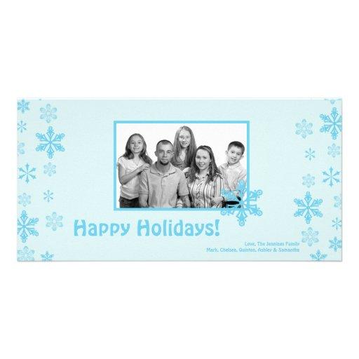 tarjeta de Navidad de la FOTO de los copos de Tarjeta Personal Con Foto