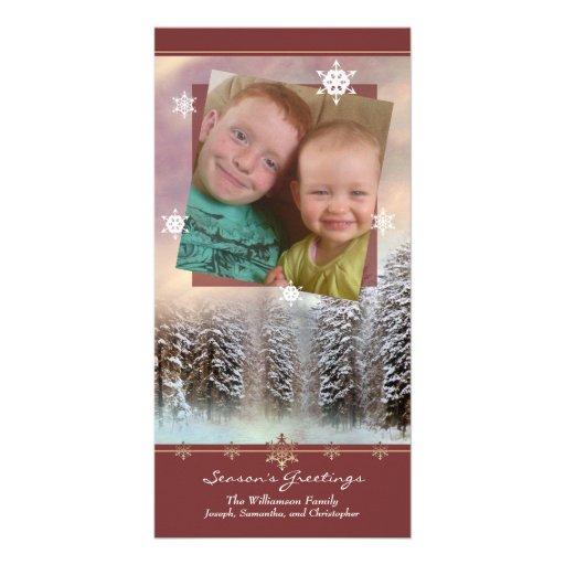 Tarjeta de Navidad de la foto de los saludos de la Tarjeta Fotográfica