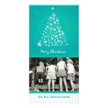 tarjeta de Navidad de la FOTO del árbol de Navidad Tarjetas Fotograficas
