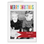 Tarjeta de Navidad de la foto del personalizable 3