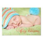 Tarjeta de Navidad de la foto del verde verde Invitacion Personal