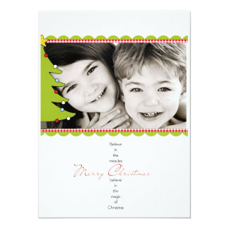 """Tarjeta de Navidad de la foto Invitación 5.5"""" X 7.5"""""""