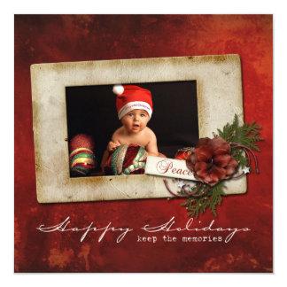 """Tarjeta de Navidad de la foto Invitación 5.25"""" X 5.25"""""""