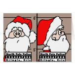 Tarjeta de Navidad de la fotografía de detenido de