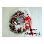 Tarjeta de Navidad de la guirnalda Tarjeta Postal