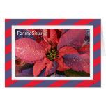 Tarjeta de Navidad de la hermana -- Poinsettia